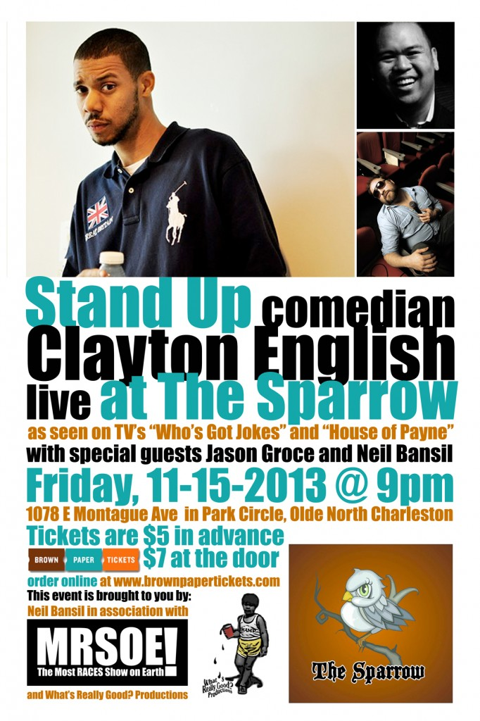 Stand-Up at The Sparrow featuring Clayton English
