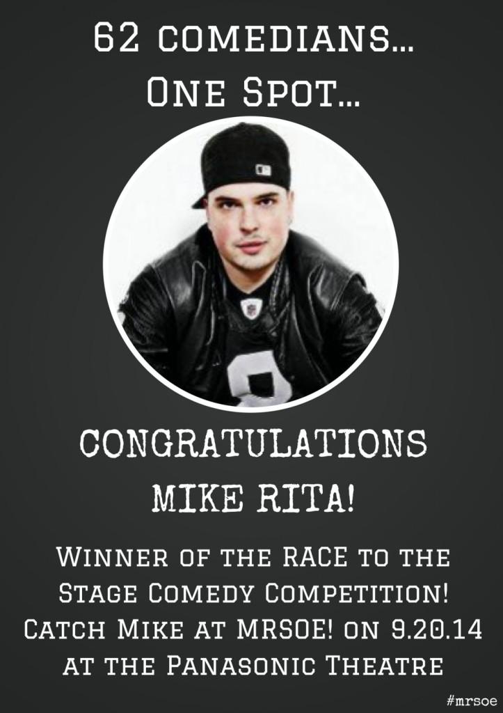 Mike Rita - Winner MRSOE! RACE to the Stage 2014
