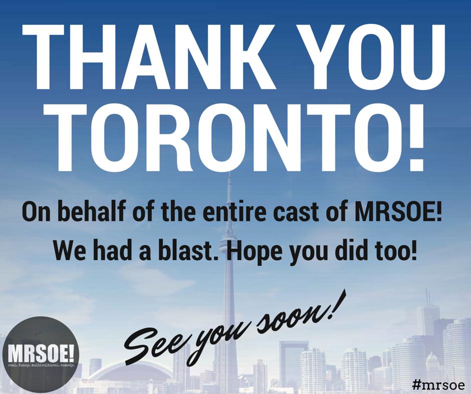 Thank You Toronto!