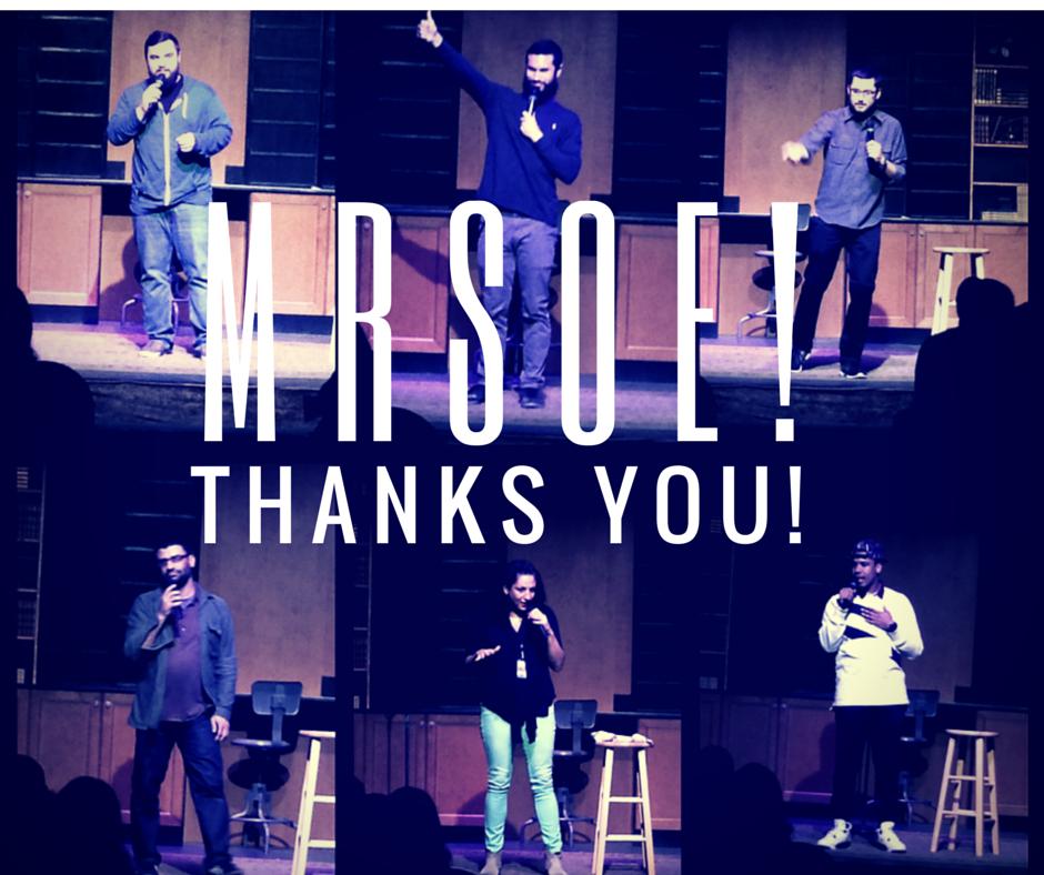 Thank You Charleston - MRSOE! Charleston Comedy Festival 2015