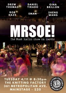 Knitting Factory Presents...MRSOE! Brooklyn